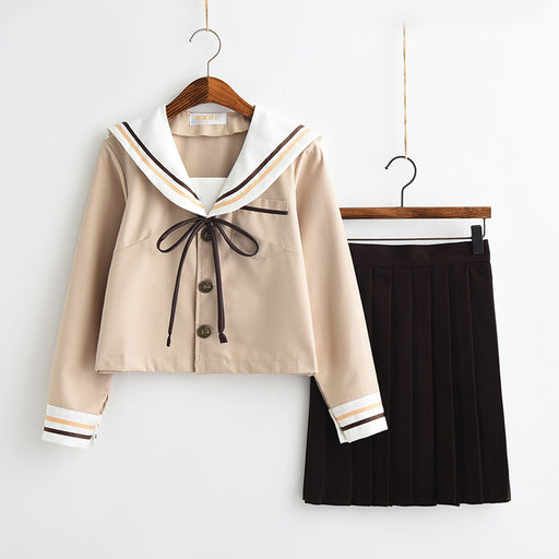 Kawaii Anime Japanese School Girl Uniform Shirt Skirt Set