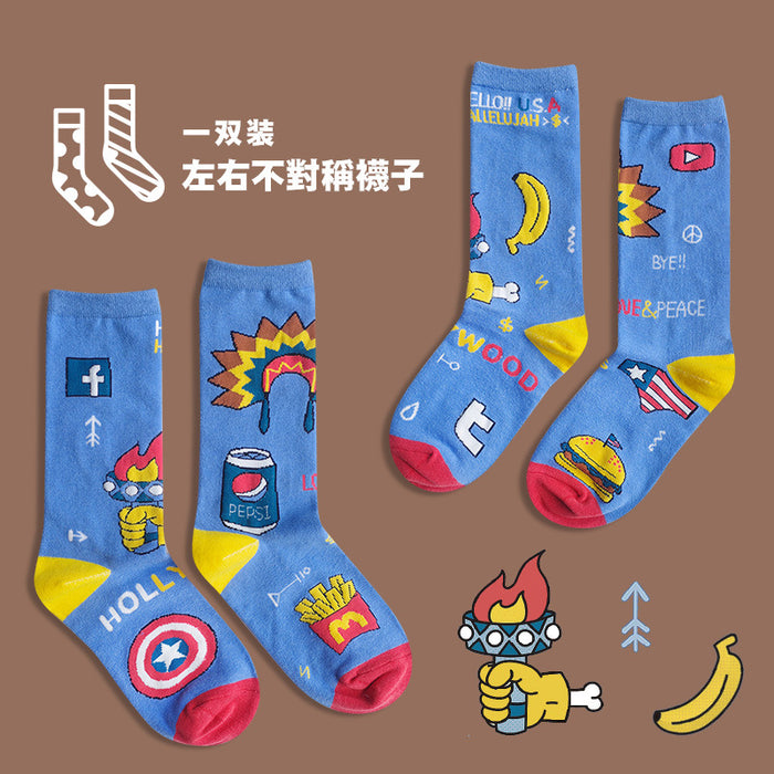 Japanese Pastel Graphic Socks