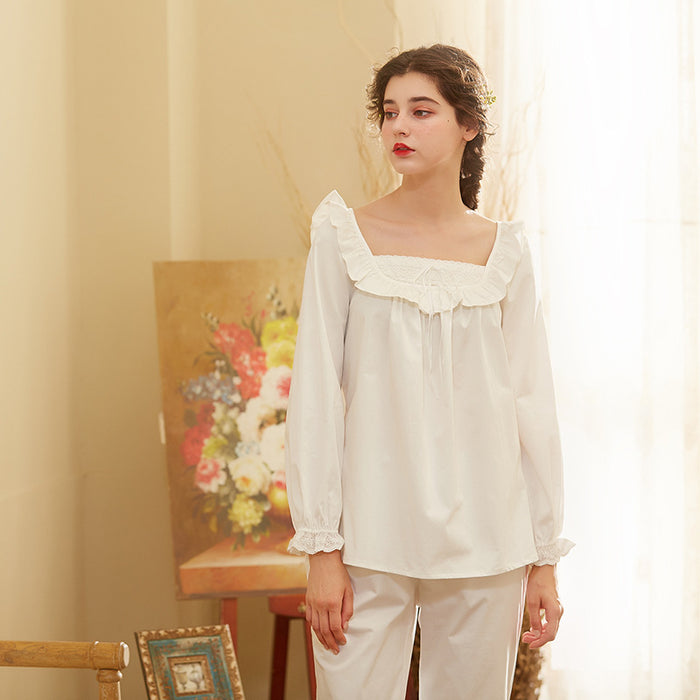 Victorian Era - Pleated Cotton Soft Night Gown