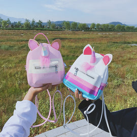 Pink Pasetel Rainbow Unicorn Sailor Moon Backpack Bag