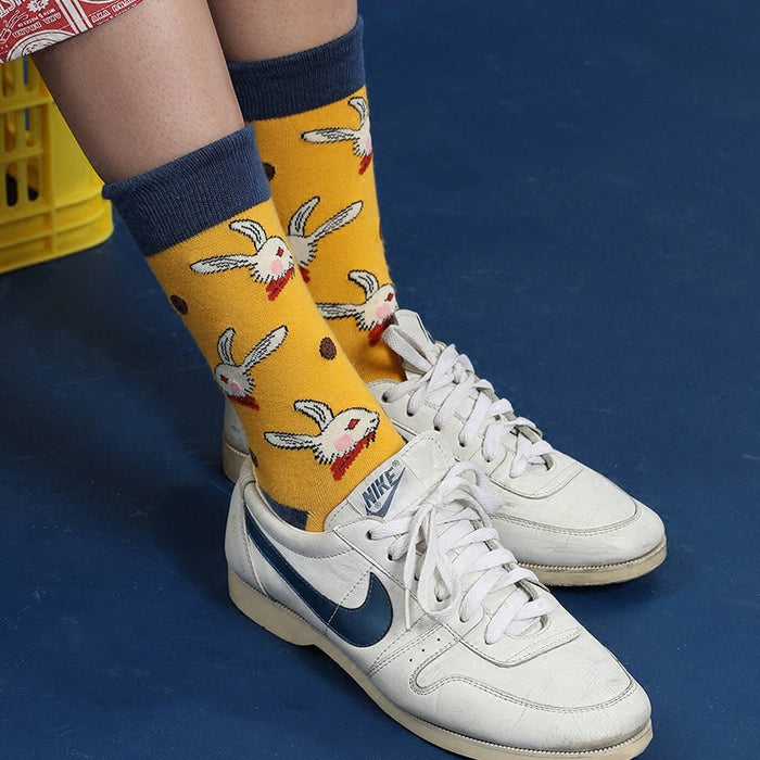 Animal Cartoon Peachy Kawaii Japanese Pastel Graphic Socks