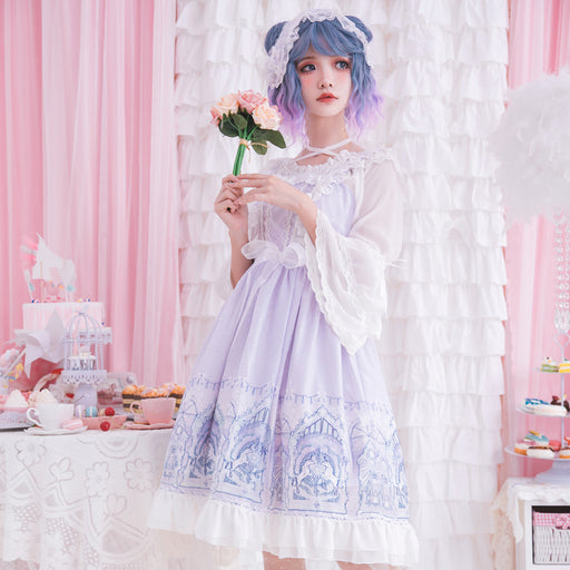 Copy of Purple In The Pink Decora Prince Kawaii Lolita Mori Dress