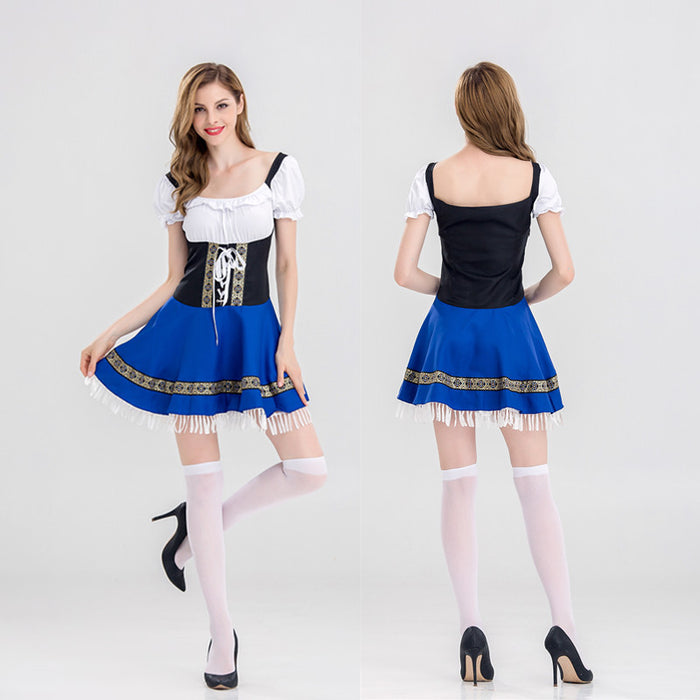 Harajuku Gothic Kawaii Japanese Apron Maid Dress