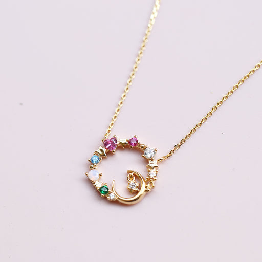 Gold Sweet Love Sailor Moon Diamond Necklace