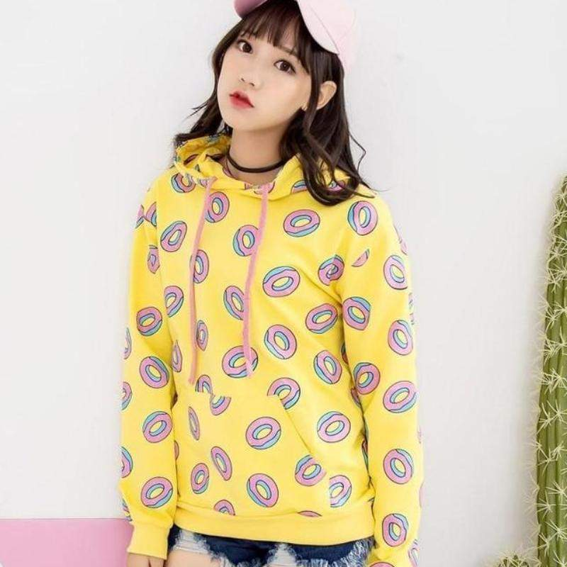 BTS K-pop GOT7 Aesthetic Fruit Pineapple Donuts Hoodie