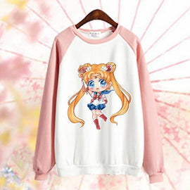 Pink Aesthetic Kawaii Sailor Moon Sweatshirt
