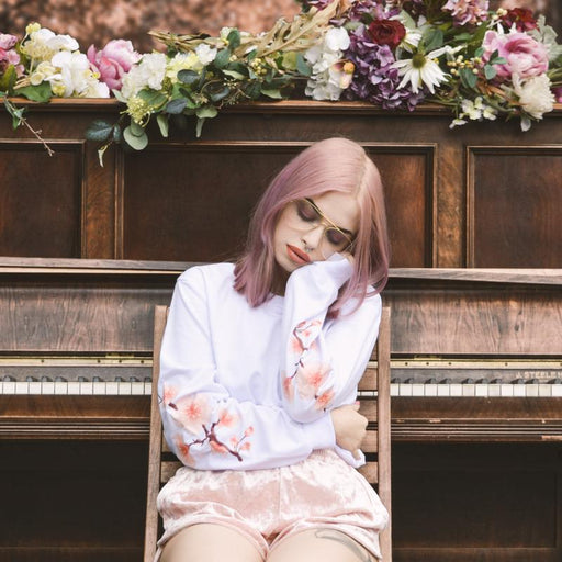 Sakura Aesthetic Rose Flower Blooming Sweatshirt