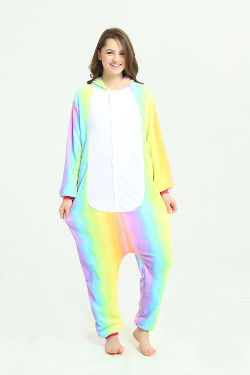 Harajuku Adult Kawaii Pastel Unicorn Horse Rainbow Animal Onesie