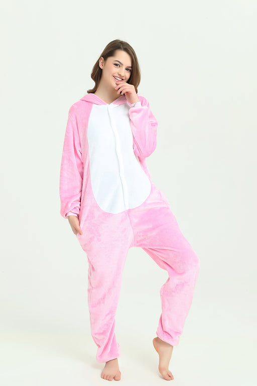 Harajuku Adult Kawaii Pastel Bunny Rainbow Animal Onesie