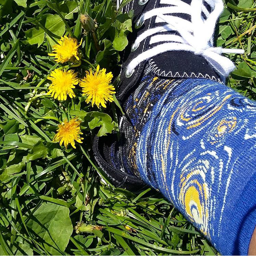 Van Gogh Rabbit Aesthetic Starring Night Tumblr Creative Socks