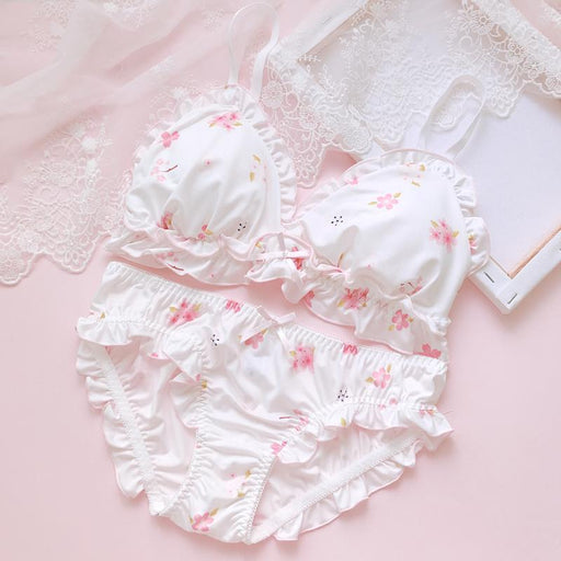Pink Flower Dot Pastel Lover Cute Sweetie Baby Bralette Set