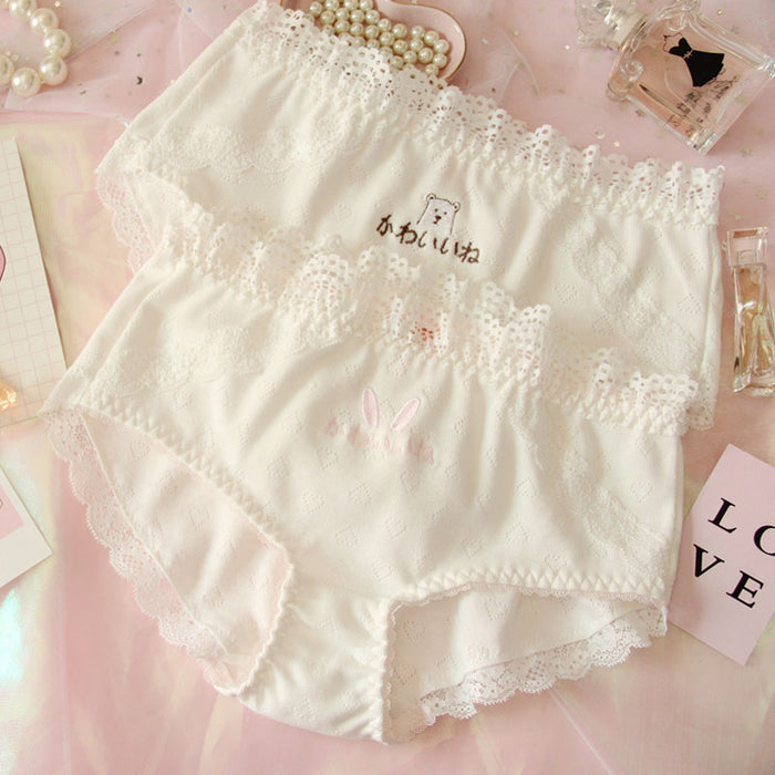 Lolita Sweet White Kiss Me Panty