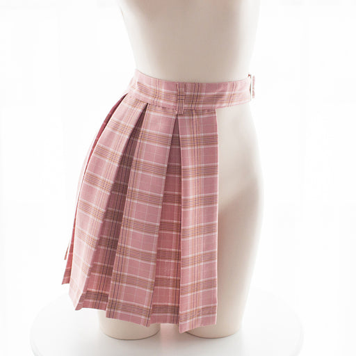 Japanese School Girl  Sexy Kawaii Grid Lingerie Half Skirt