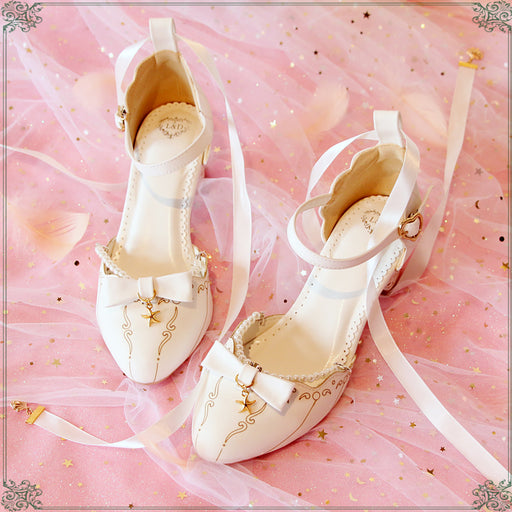 Pink Pastel School Girl Anime Kawaii Japanese Forest Lolita Heels