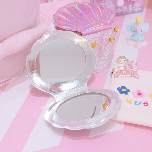 Seashell Japanese Candy Color Pastel Kawaii Makeup Portal Mirror