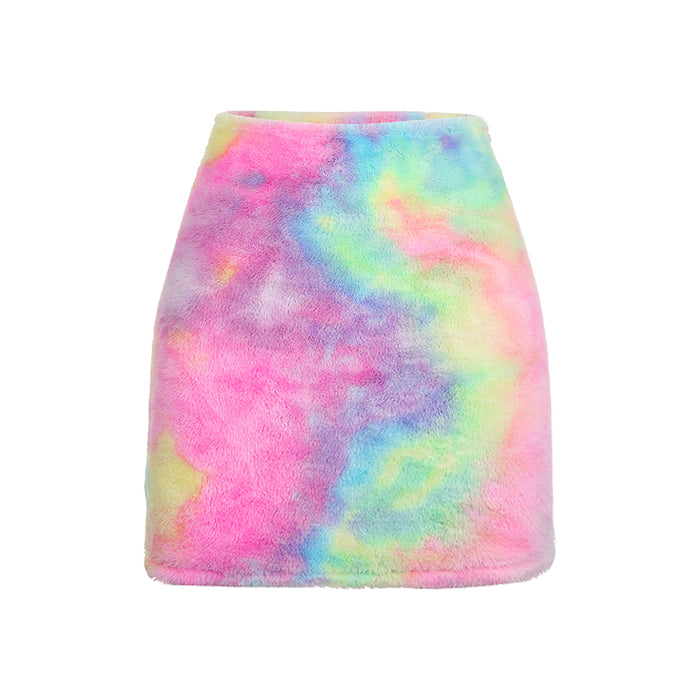 Aesthetic Kawaii Pastel Furry Skirt