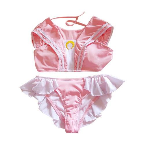 Japanese Anime Sailor Moon Lingerie Set - Pink Kawaii Moon
