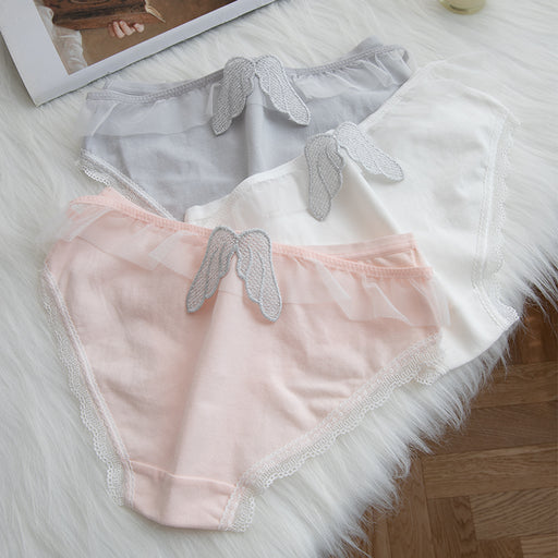 Japanese cute angel wings low waist briefs