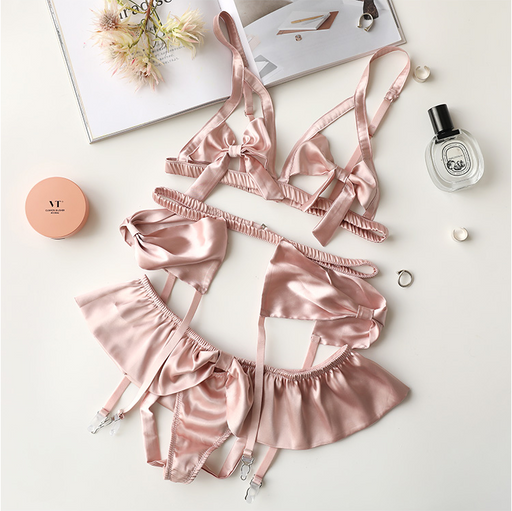 Kawaii Sheer Happy Weekend Rose Pink Angel Cute Sweetie Baby Bralette Set