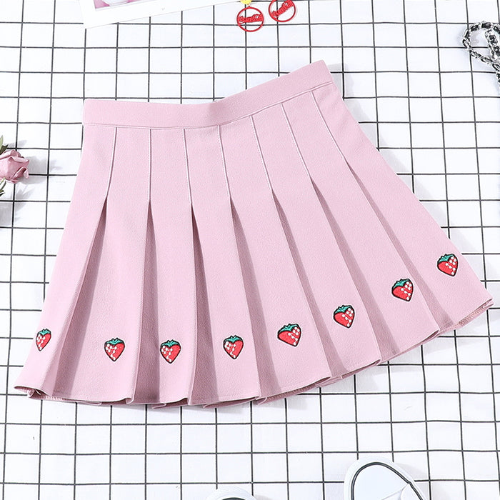 Aesthetic Strawberry Skirt