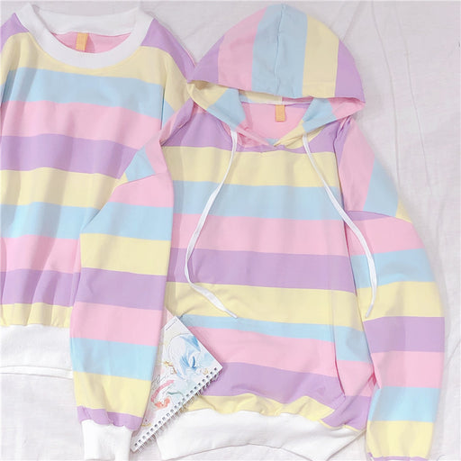 Candy Aesthetic Rainbow Hoodie