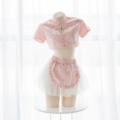 Anime Japanese Style Sexy Keyhole  Maid Dress Lingerie
