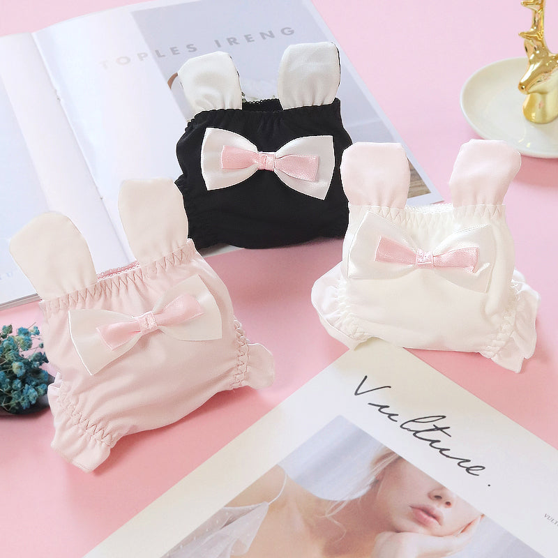 3pcs-Kawaii Rabbit Sweet White Kiss Me Panty