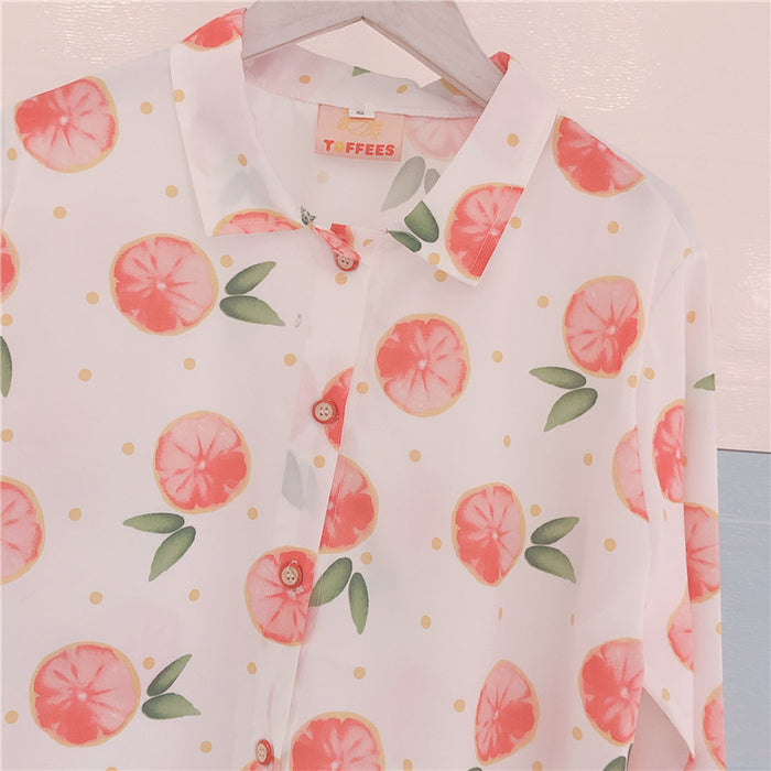 Peachy Aesthetic Kawaii Fruits Blooming Aesthetic Shirt