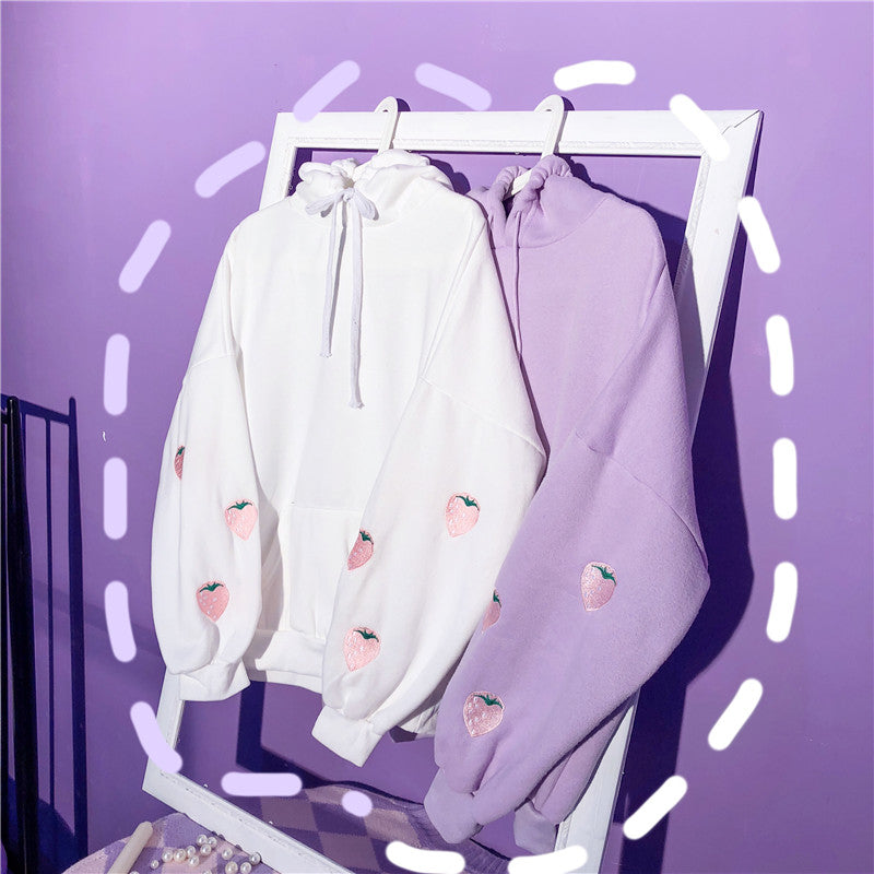 Aesthetic Kawaii Strawberry Hoodie