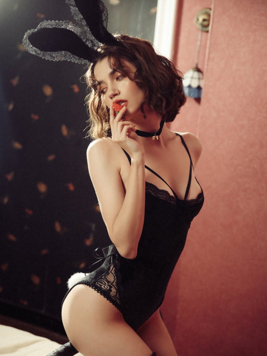Anime Kawaii Sexy Bunny Girl Costume Lingerie - Black