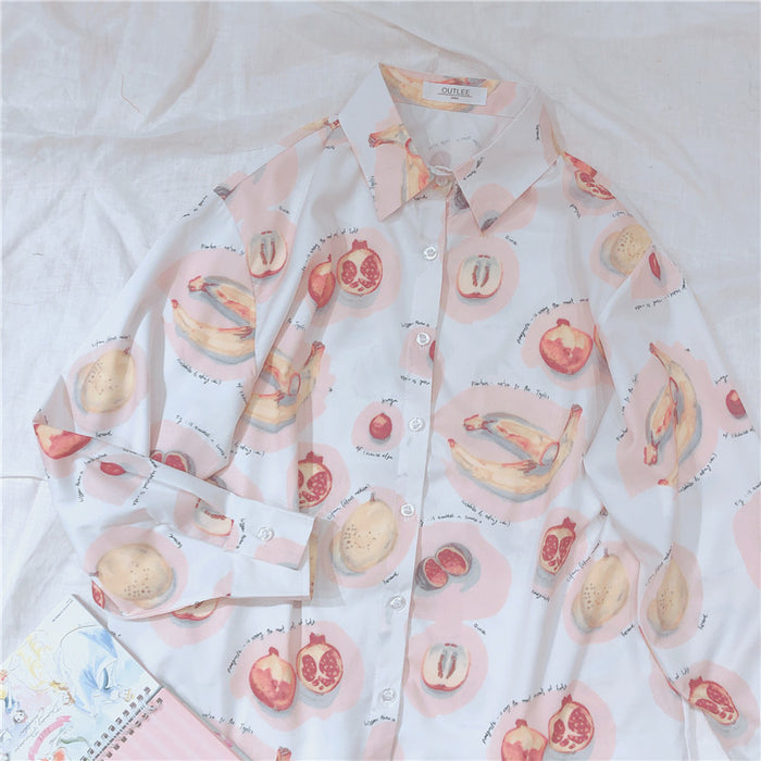 Summer Vibes J Fashion Kawaii Fruits Blooming Aesthetic Shirt