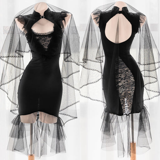 Sofyee  Sexy Black Gothic Wedding Dress