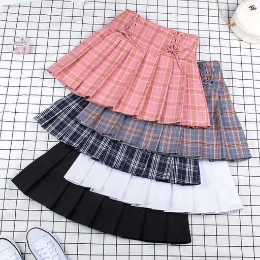 School Girl Grid Skirt