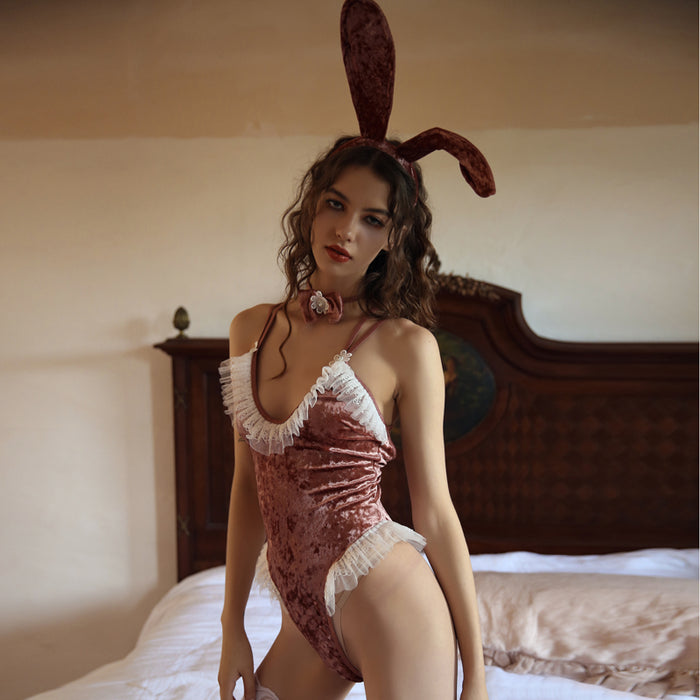 Sexy Bunny Girl Costume Lingerie - Pink