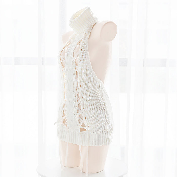 Virgin Killer Have Fun Japanese Sexy Lace Up Keyhole Lingerie Dress