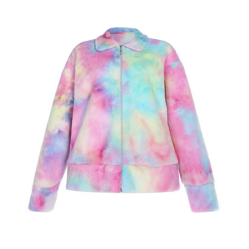 Aesthetic Kawaii Pastel Furry Jacket
