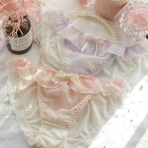 2pcs-Kawaii Girl Sweet White Kiss Me Panty