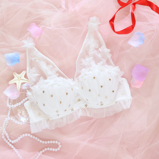 Pink Cartoon Pastel Lover Cute Sweetie Baby Starring Bralette Set