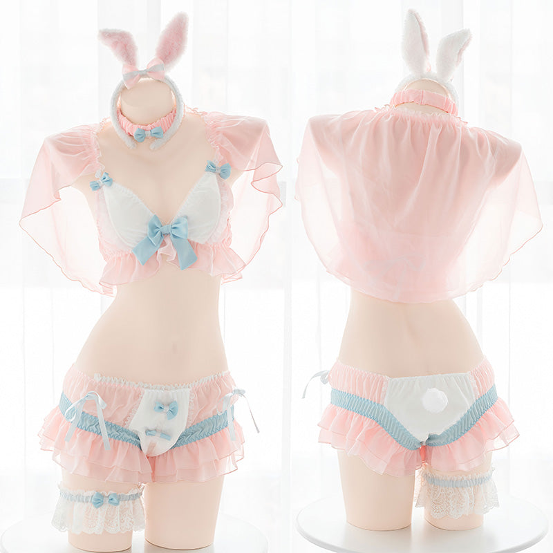 Anime cute cream dessert bunny underwear set