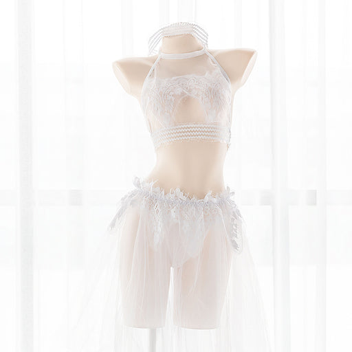 Sofyee Kawaii Sheer White Bridal Lingerie