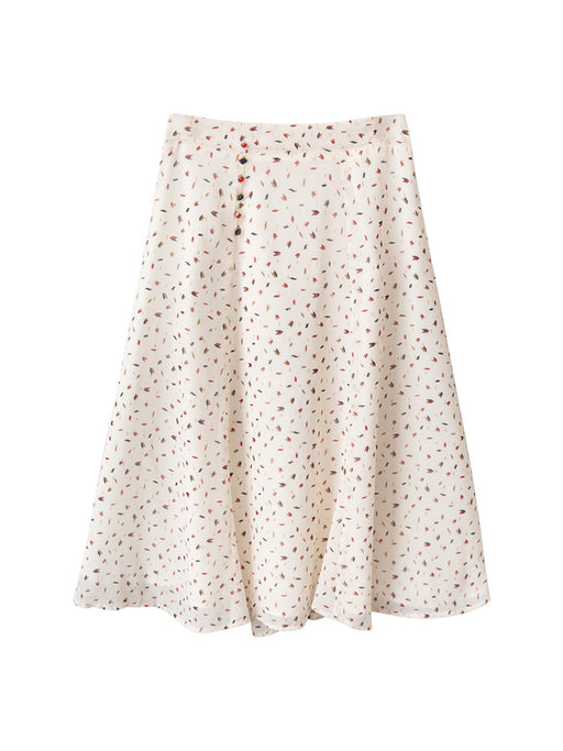 Summer Vibes Dots Triangle Love Aesthetic Long Skirt