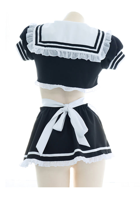 Sofyee  Sexy Short Sailor Suit Maid Outfit