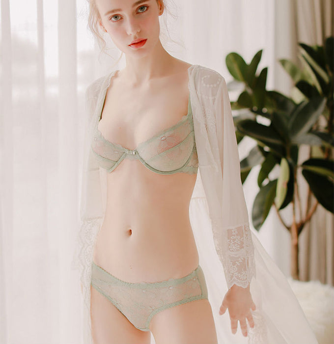 cb7f9fec42c Complete Innocence See Through All Over Bra   Panty Set — sofyee
