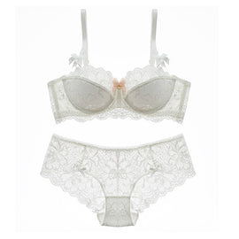 Kissing Bow-Tie Lace-Paneled Endearing Bra - sofyee
