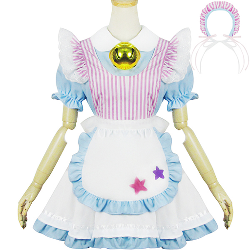 Pastel Choker Japanese Apron Maid Dress