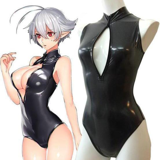 Anime Hollow Out Kawaii Goth Swimsuit