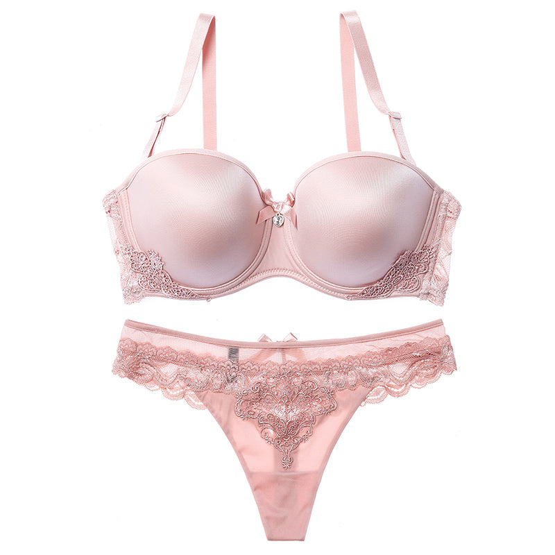 Pink Angel Balconette  T-Shirt Bra Set