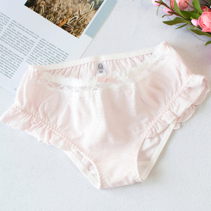 Girly Strawberry Pink Ruffle Frilly Sweetie Kawaii Candy Color Panty