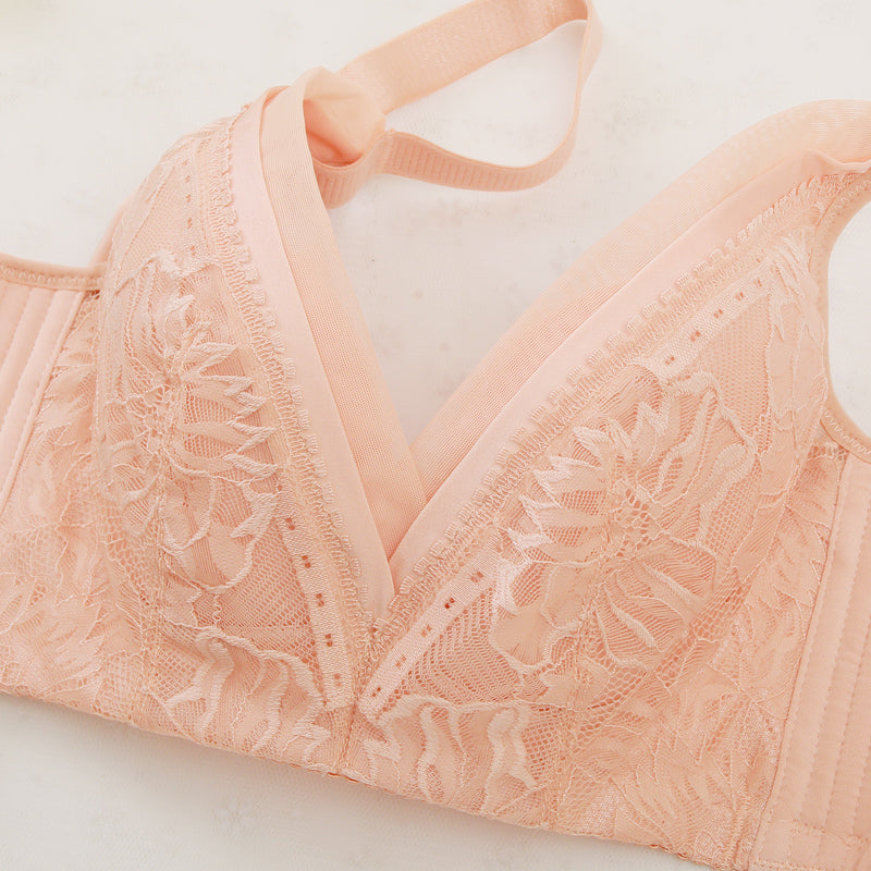 Charming Wirefree V Neck Soft Cup Bra