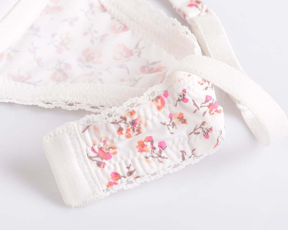 Cute Flower Push Up Bra